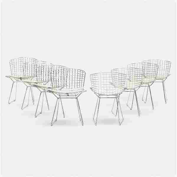 Harry Bertoia, dining chairs, set of eight