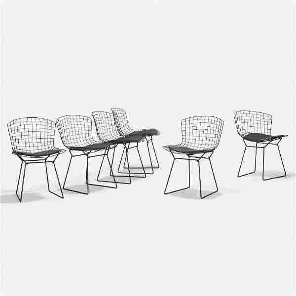 Harry Bertoia, dining chairs, six