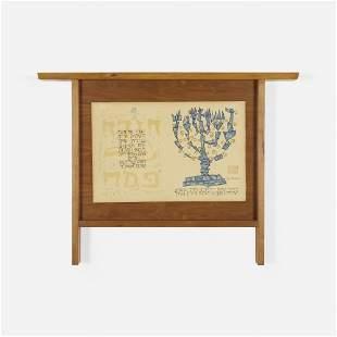 Nakashima and Shahn, Custom frame with Haggadah