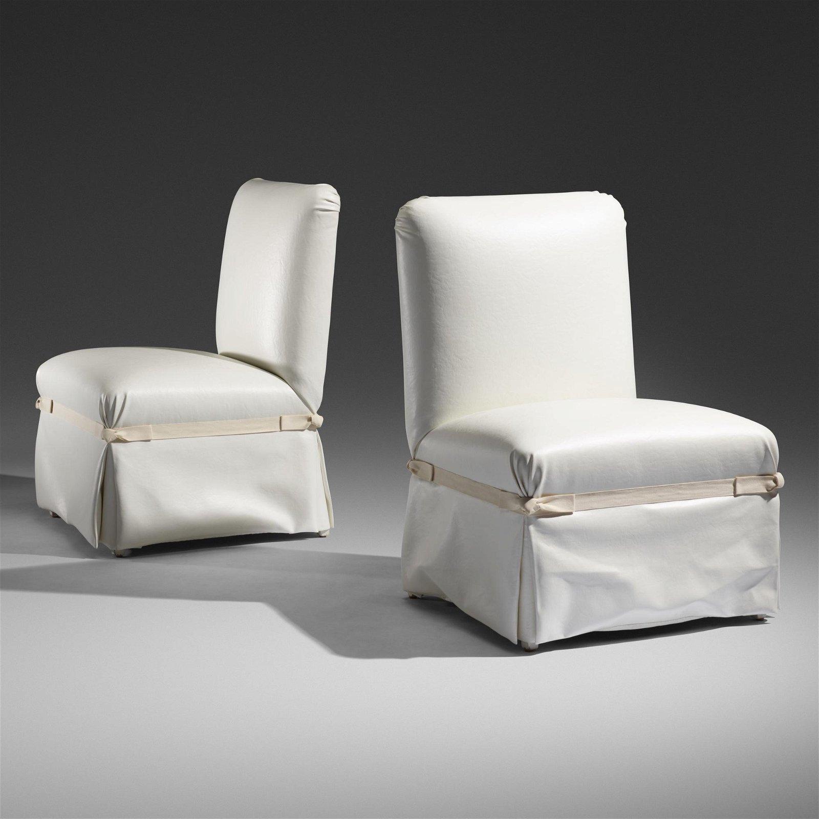 John Dickinson, chairs for Carlene Safdie, pair
