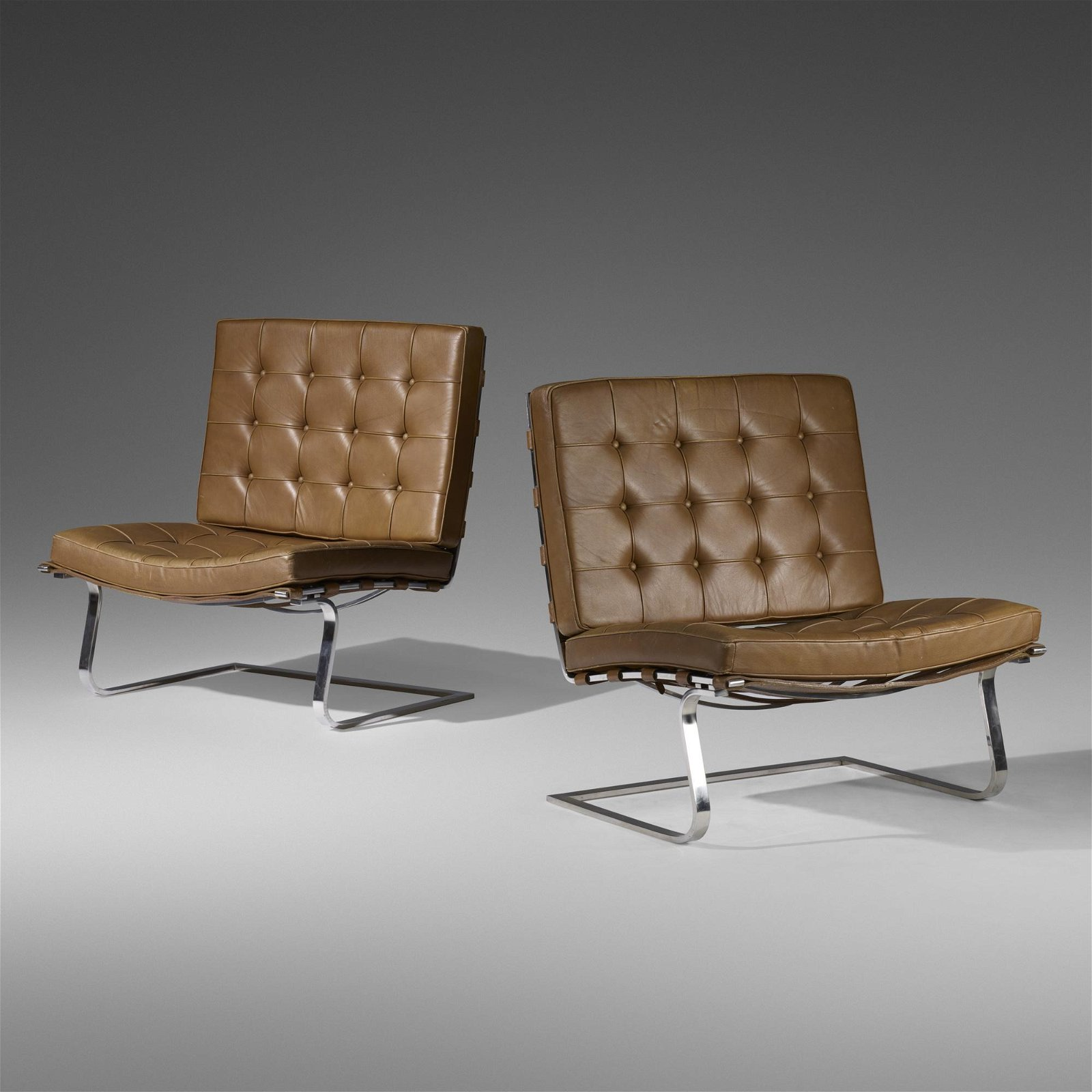 Ludwig Mies van der Rohe, Tugendhat chairs, pair