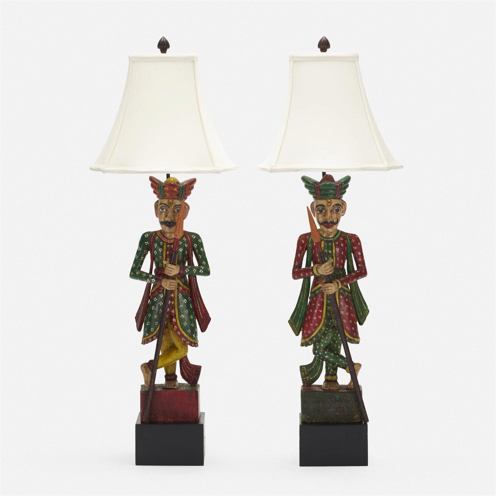 Tony Duquette, table lamps, pair