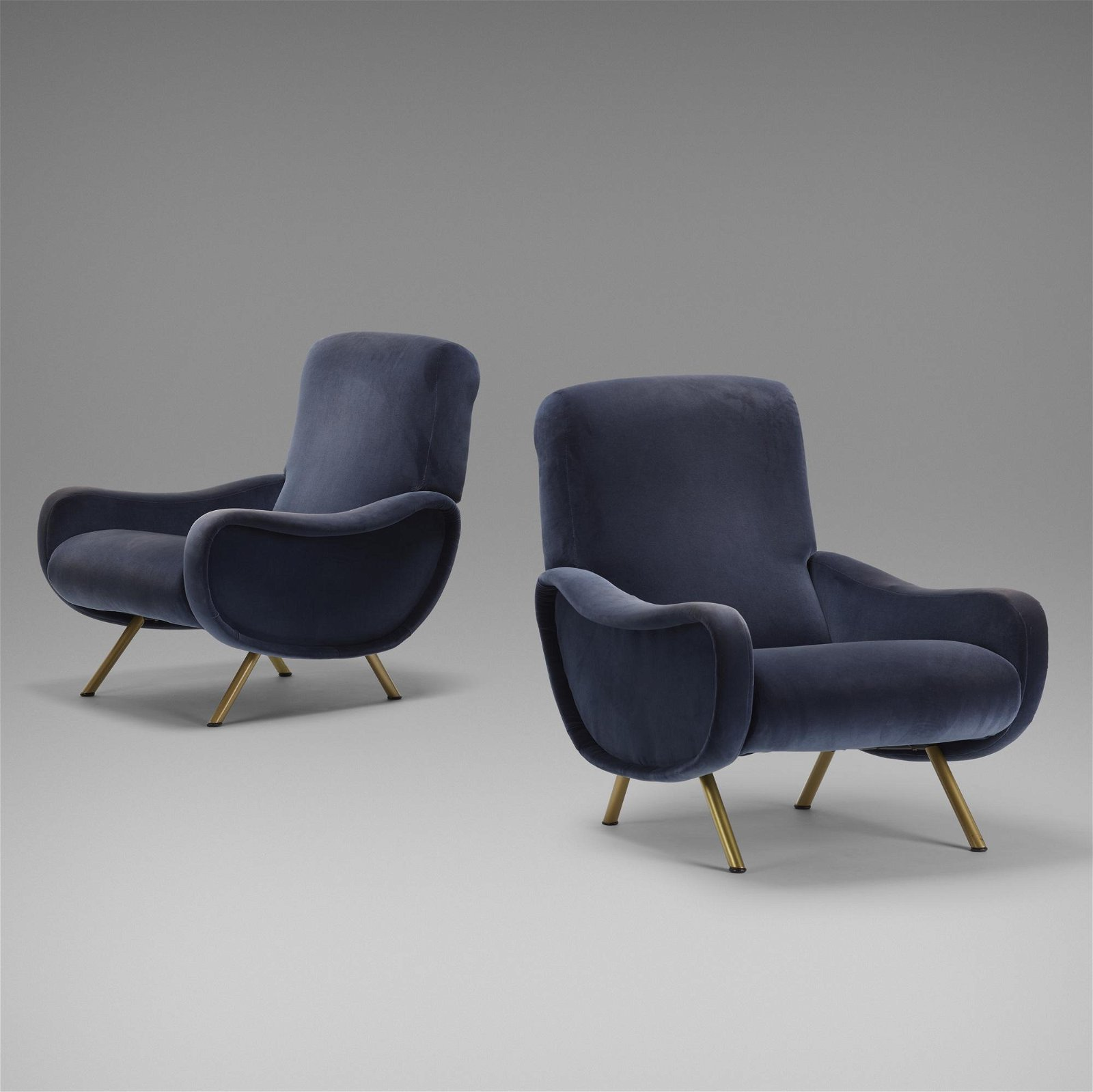 Marco Zanuso, Lady lounge chairs, pair