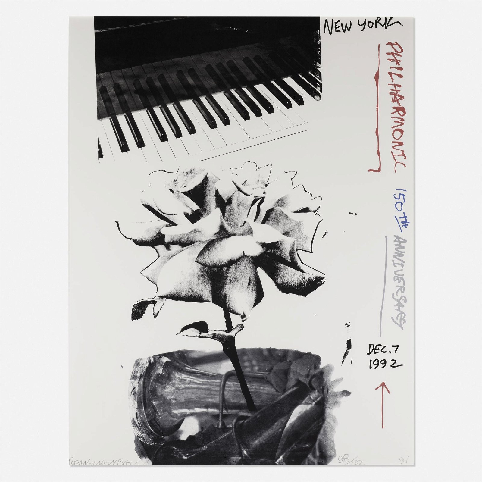 Robert Rauschenberg, New York Philharmonic poster
