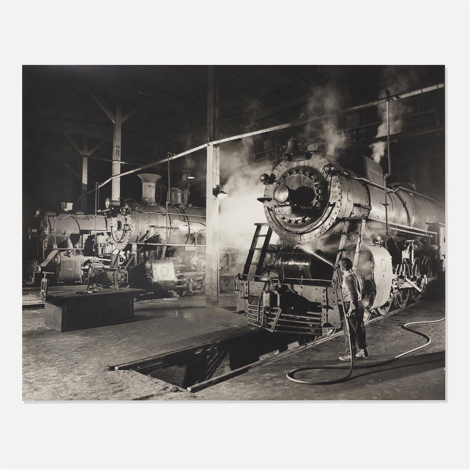 O. Winston Link, J. H. Pope Washes Locomotive 104…