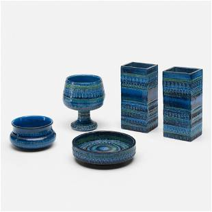 Aldo Londi, Rimini Blu vessels, collection of five