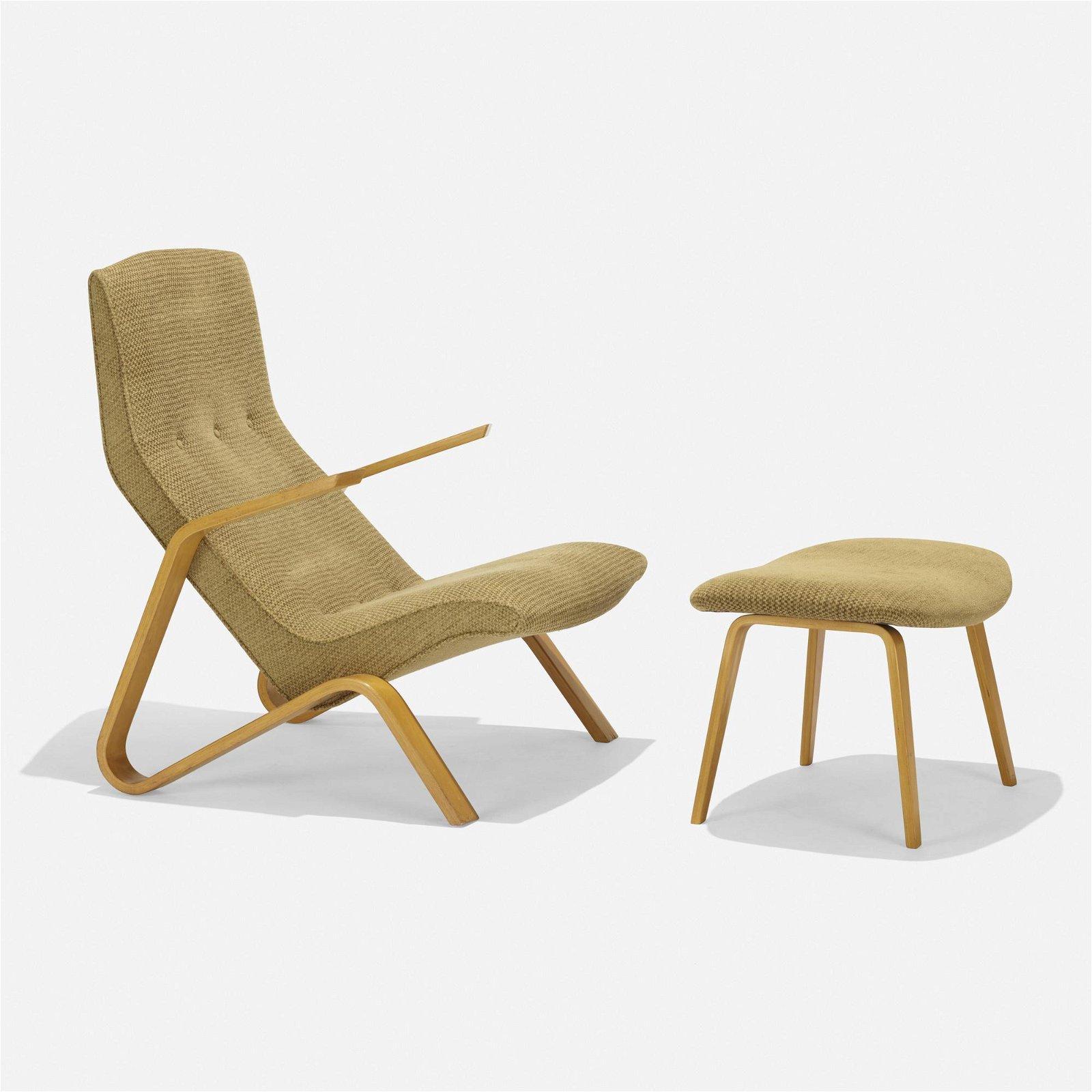 Eero Saarinen, Grasshopper chair and ottoman