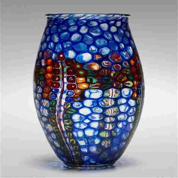 Nicolo Barovier, Rare and Important Mosaico vase