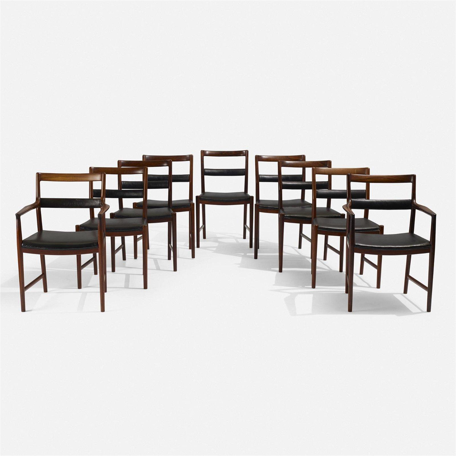Helge Vestergaard Jensen, dining chairs, set of nine