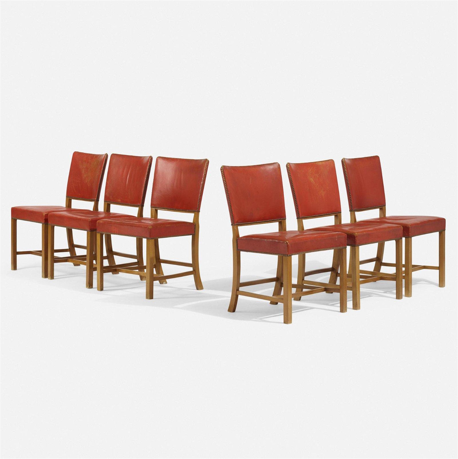 Fritz Hansen, dining chairs, set of six