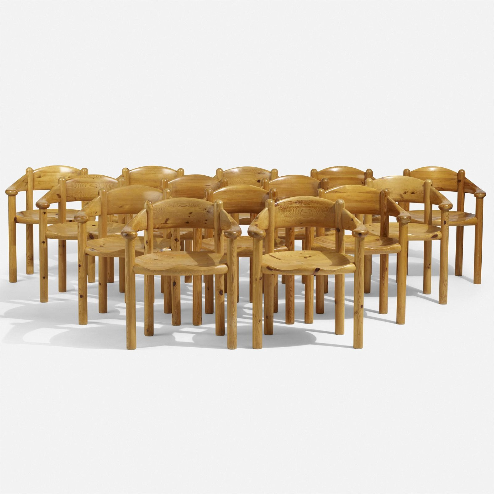 Rainer Daumiller, dining chairs, set of fourteen