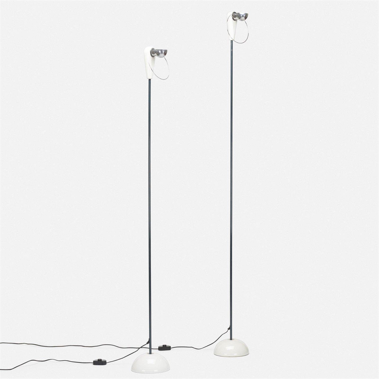Achille Castiglioni, Bibip floor lamps, set of two