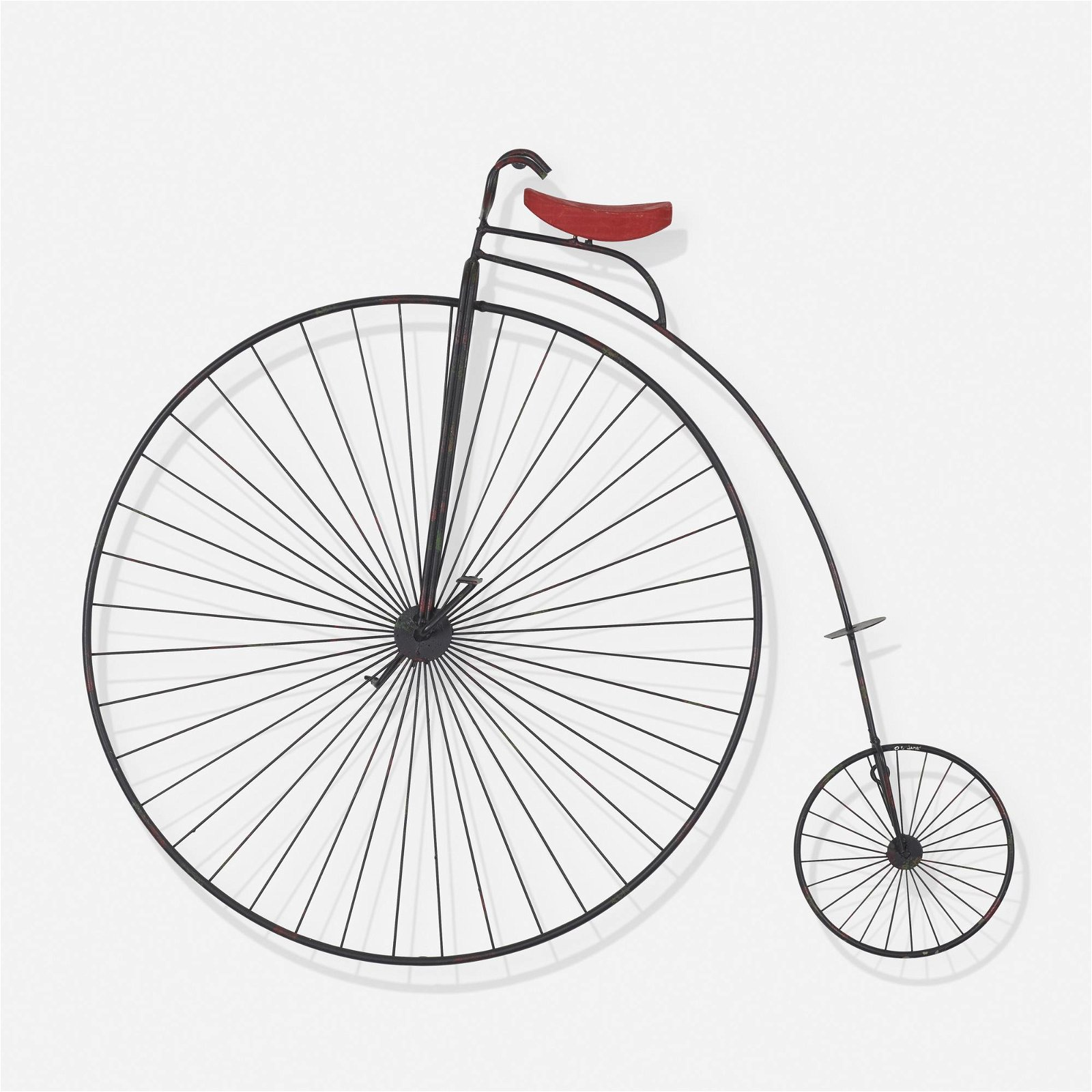 C. Jere, bicycle wall sculpture