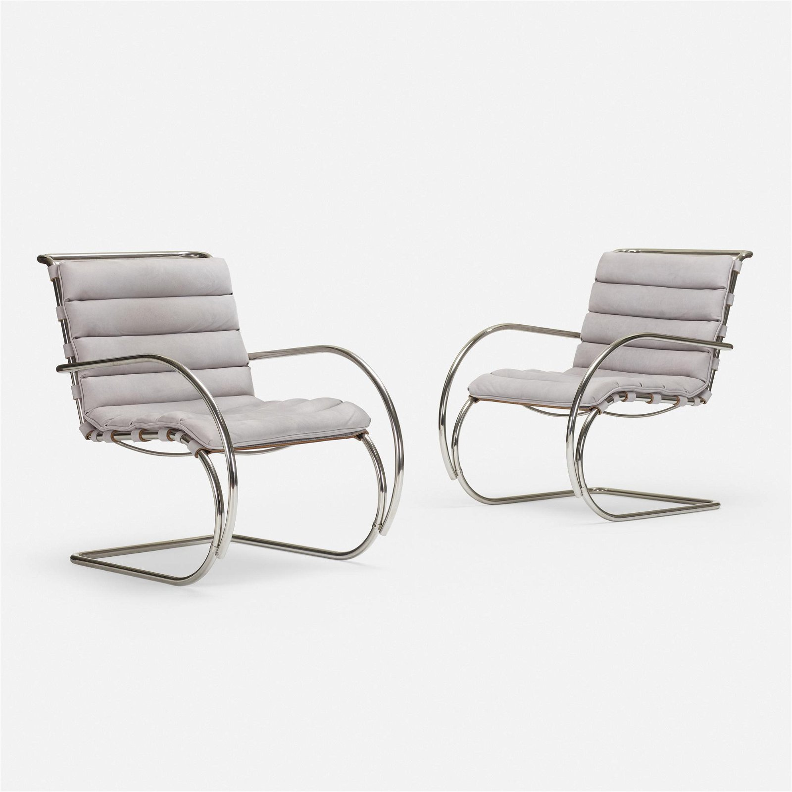 Ludwig Mies van der Rohe, MR lounge chairs, pair