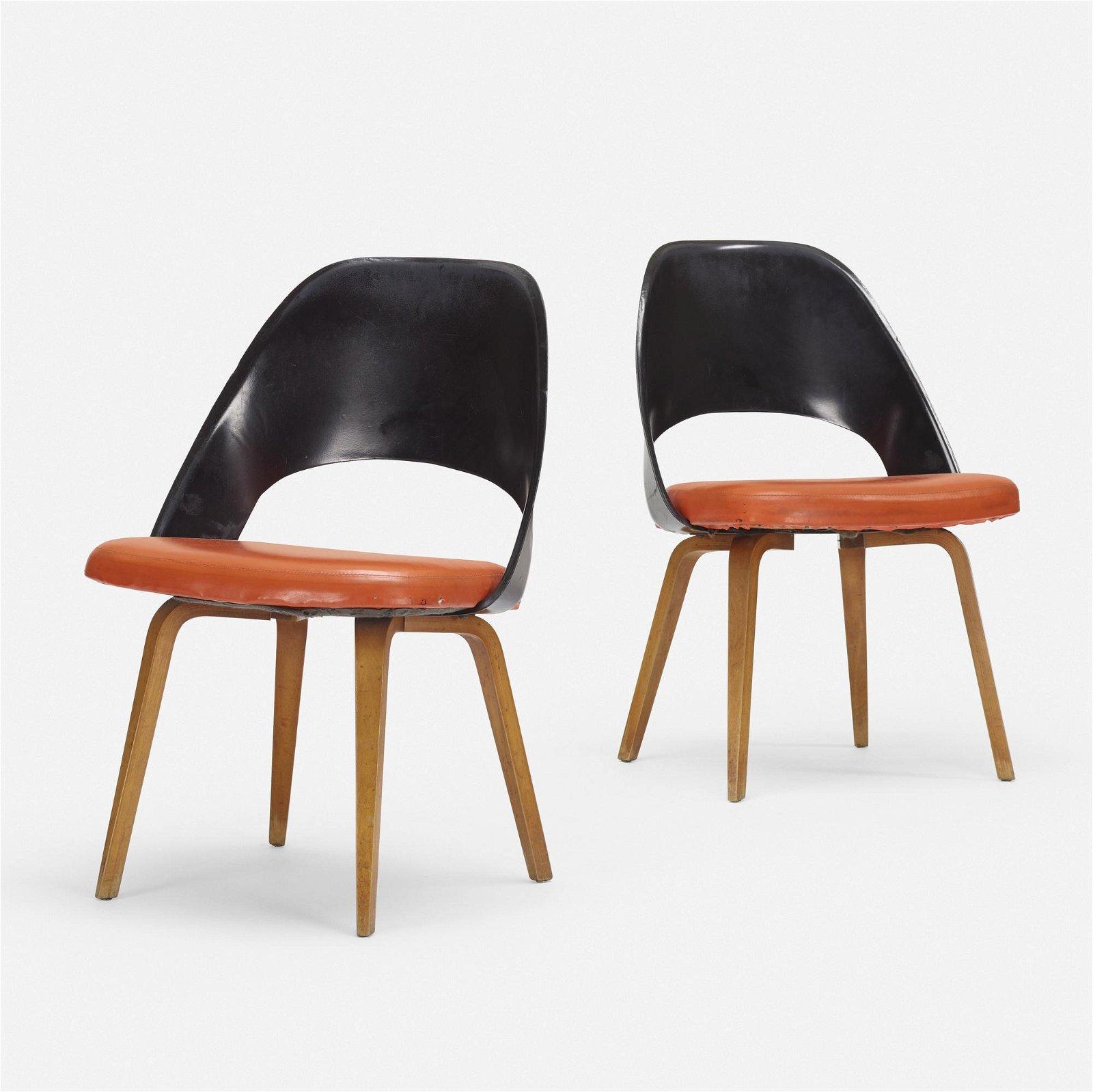 Eero Saarinen, chairs model 72 PLB, pair