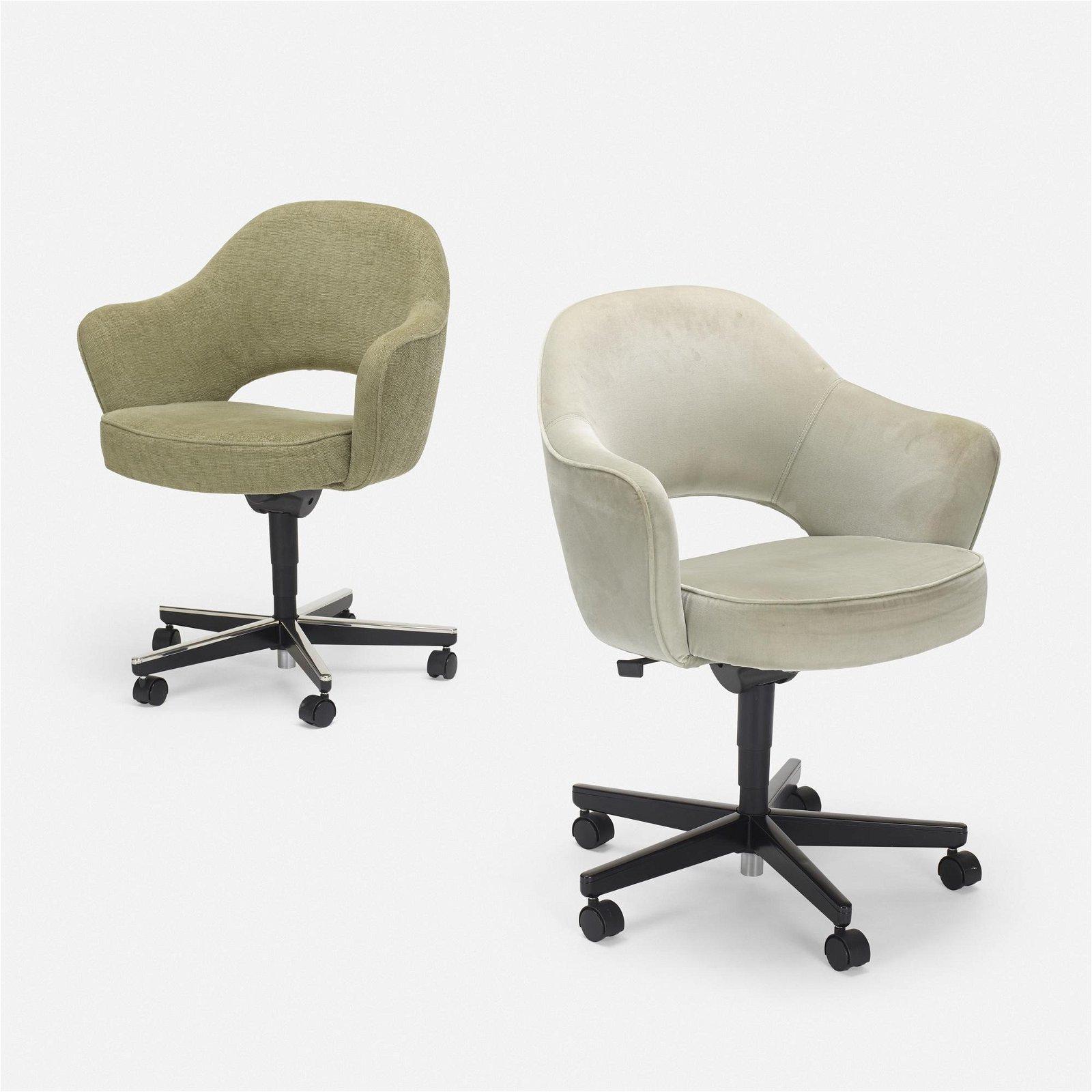 Eero Saarinen, Executive armchairs, pair