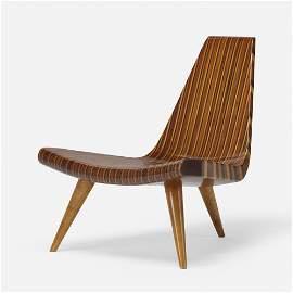 Joaquim Tenreiro, Rare Three-Legged Chair