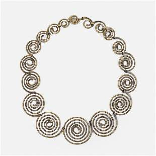 Art Smith, Diminishing Spirals necklace