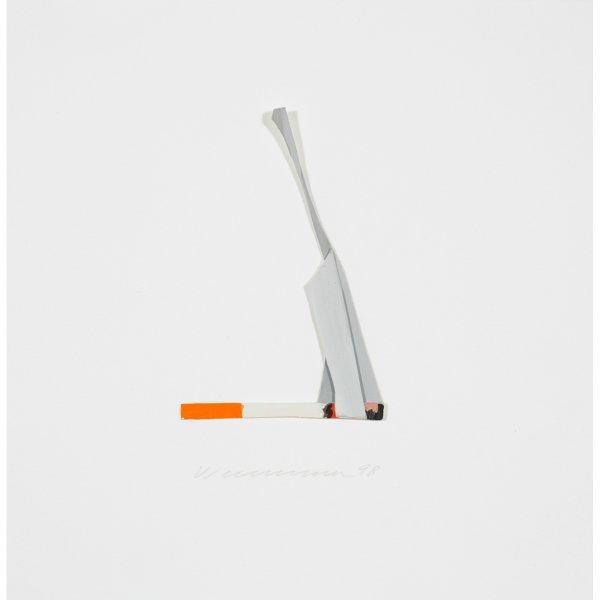 120: Tom Wesselmann 1931-2004 Smoking Cigarette