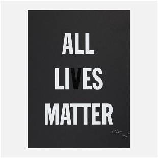 Hank Willis Thomas, All Li es Matter