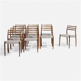 Niels O. Moller, dining chair, set of ten