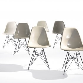 Charles And Ray Eames DKRs, Set Of Six