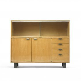 114: George Nelson & Associates cabinet with glass case
