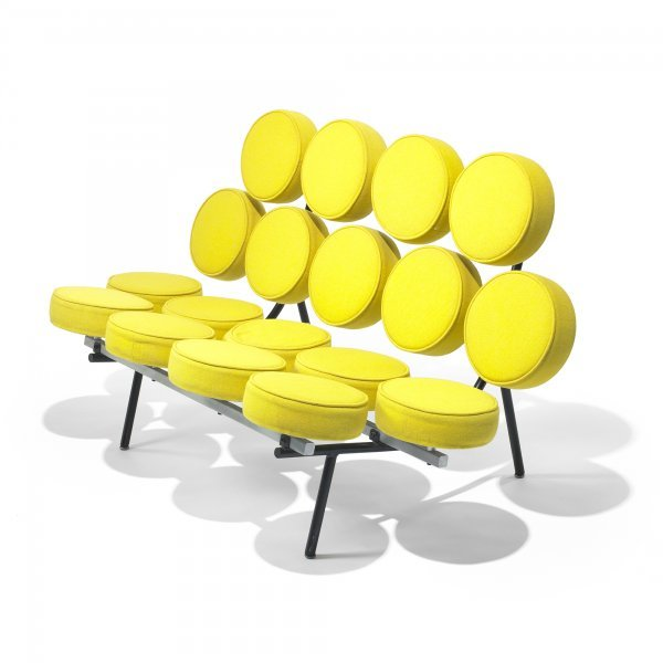 128: George Nelson & Associates Marshmallow sofa