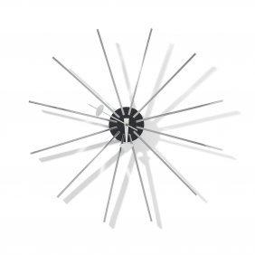 George Nelson & Associates Metal Spoke Wall Clock,