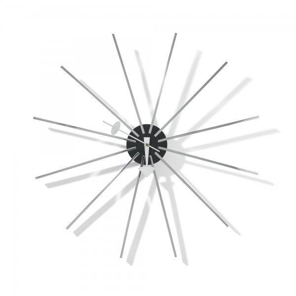 136: George Nelson & Associates Metal Spoke wall clock,