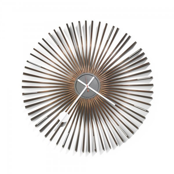 138: George Nelson & Associates Ribwood wall clock