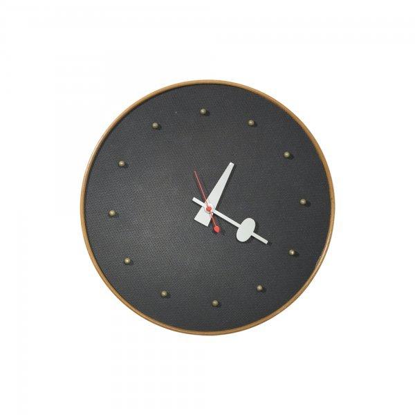 140: George Nelson & Associates Masonite wall clock