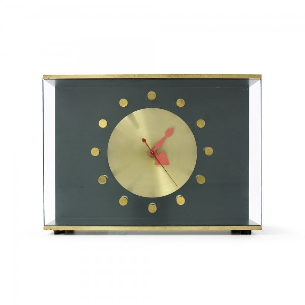 144: George Nelson & Associates Shadow Box table clock,