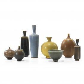 Berndt Friberg Vases, Set Of Eight