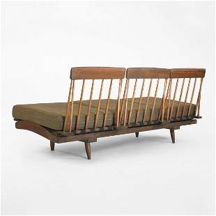 414: Phillip Lloyd Powell Spindle back sofa