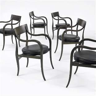 493: Edward Wormley Alexandria chairs, set of six