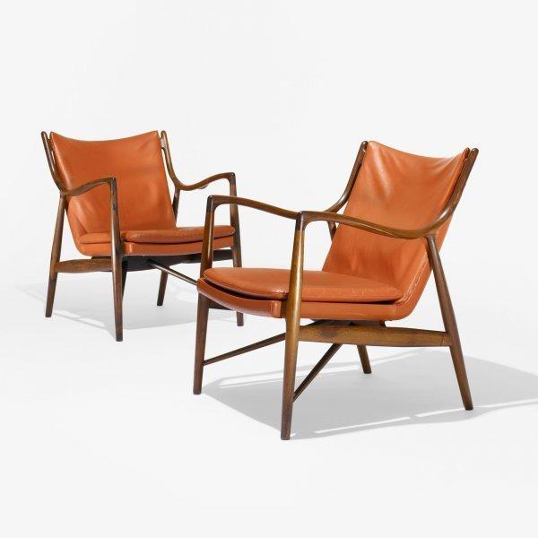 517: Finn Juhl armchairs model NV 45, pair