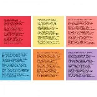 621: Jenny Holzer Inflammatory Essays, set of ten
