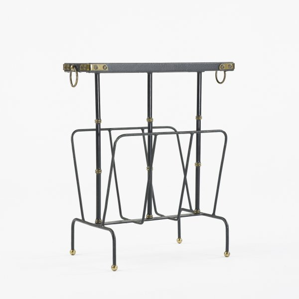 108: In the Manner of Jacques Adnet magazine rack
