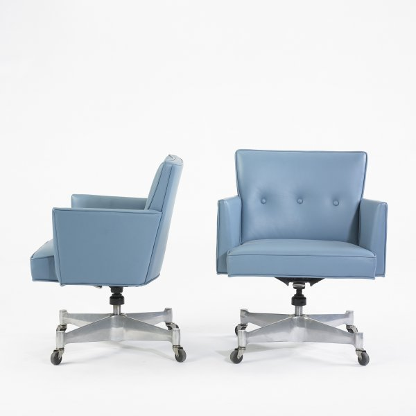 116: George Nelson & Associates office chairs, pair