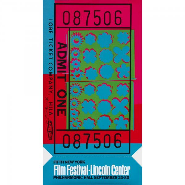 107: Andy Warhol Ticket Stub poster