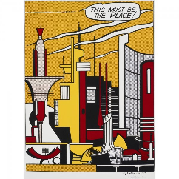 110: Roy Lichtenstein This Must Be the Place poster