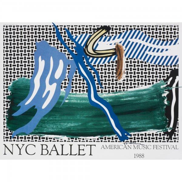 112: Roy Lichtenstein NYC Ballet poster