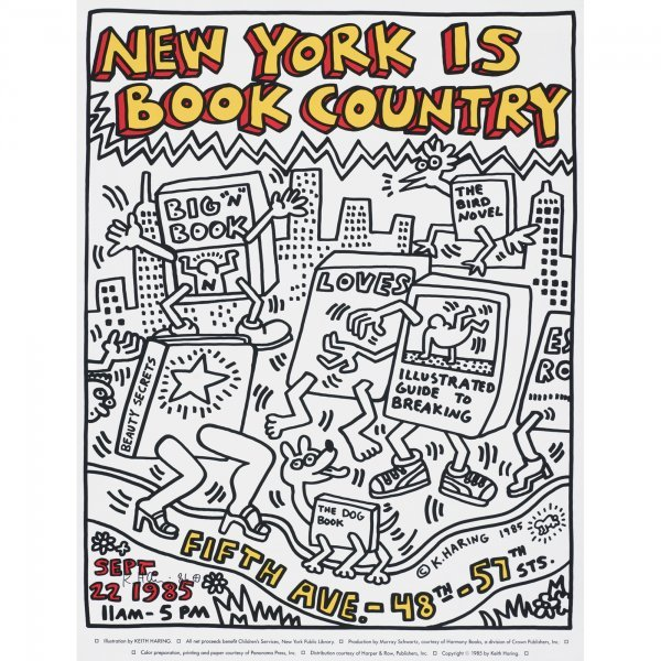 114: Keith Haring New York is Book Country poster