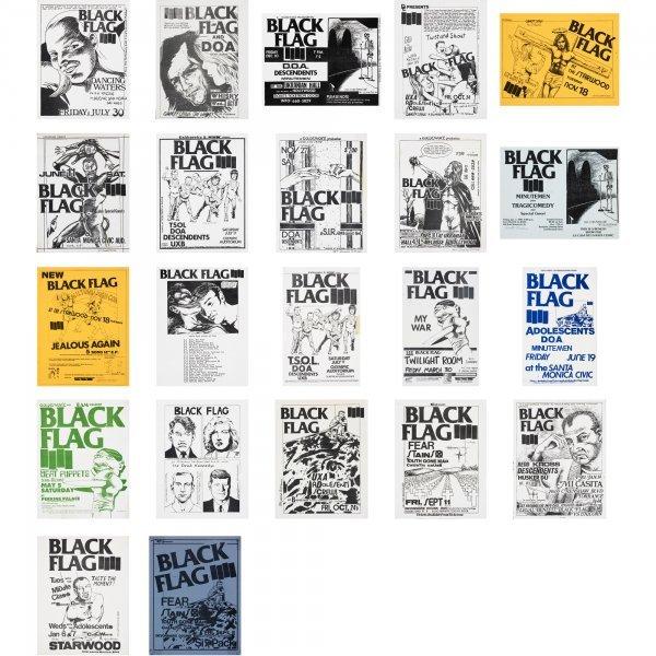 121: Raymond Pettibon Black Flag posters