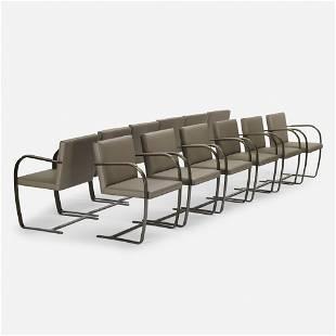 Ludwig Mies van der Rohe, Brno chairs, set of twelve