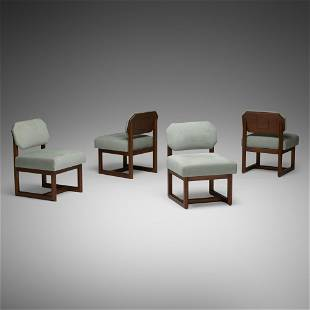 Frank Lloyd Wright, Taliesin dining chairs, set of four