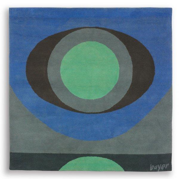 100: Herbert Bayer Green Star tapestry
