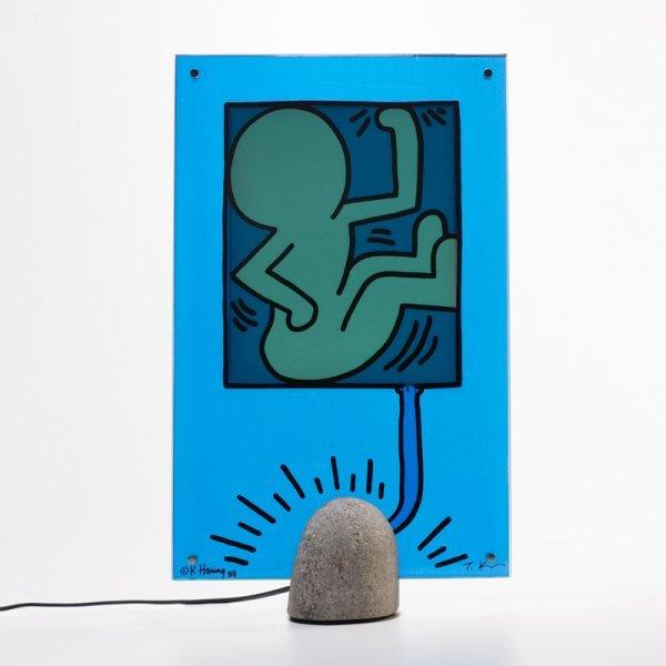 108: Keith Haring and Toshiyuki Kita table lamp