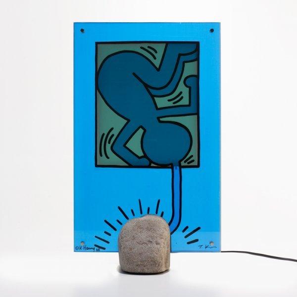 109: Keith Haring and Toshiyuki Kita table lamp